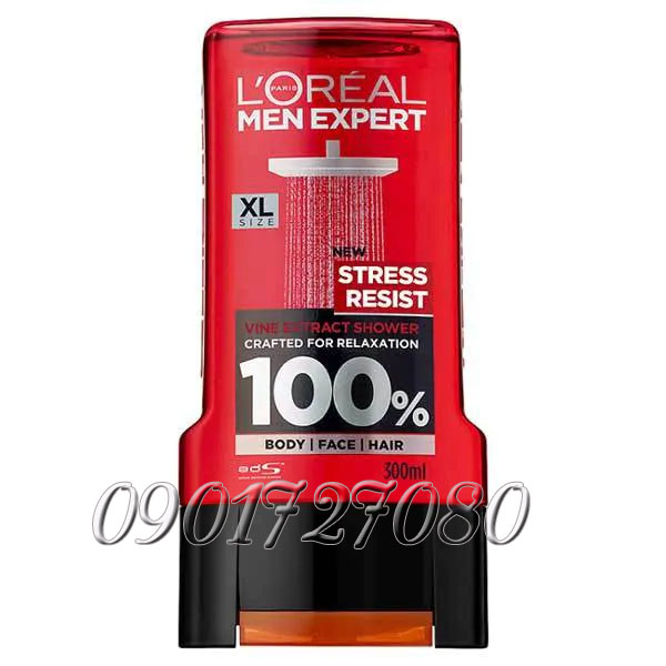 Sữa tắm L'Oreal Stress Resist (3in1) - Pháp